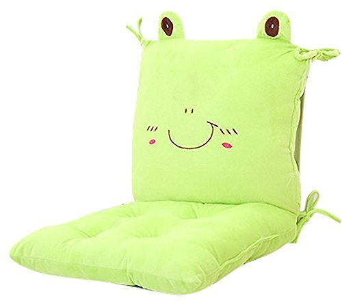 MIMORE Rocking Chair Seat Back Stuffed Cushion Pad Set with Ties for Nursery Baby Trottie Nursling Bedroom Green Frog Detachable