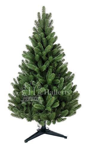 Hallerts Original Spritzguss Weihnachtsbaum Hylton 120 cm als Douglasfichte - Christbaum zu 100% in Spritzguss PlasTip® Qualität - schwer entflammbar nach B1 Norm, Material TÜV und SGS geprüft.