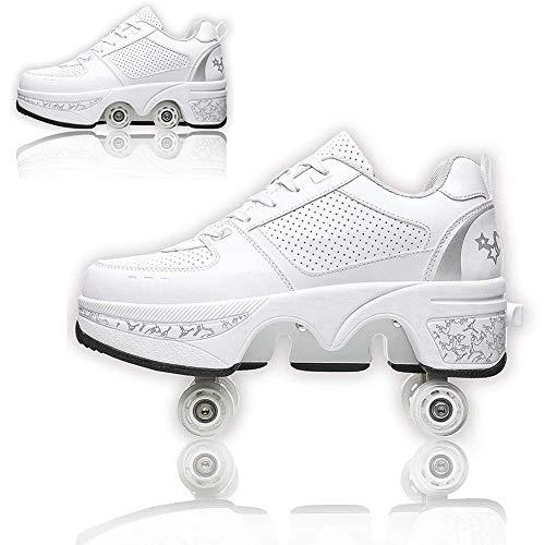 COOLBOY Automática Calzado de Skateboarding, Automática de Skate Zapatillas con Ruedas Zapatos Patines Deportes Zapatos para Niños Niñas,38