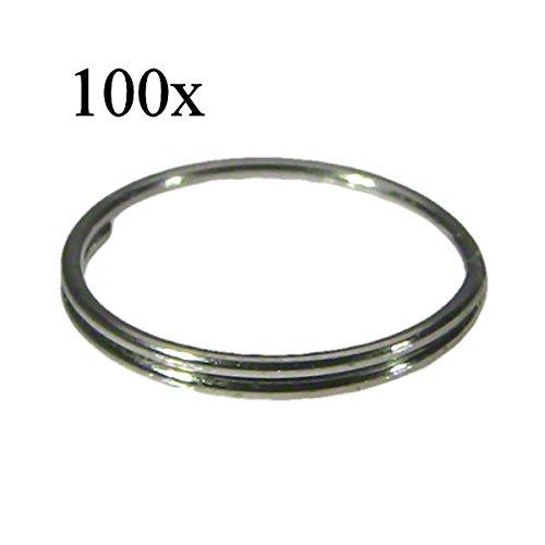 100x Kristall Verbinder Ring Ø 10mm Chrom ~ Kronleuchter Lüster