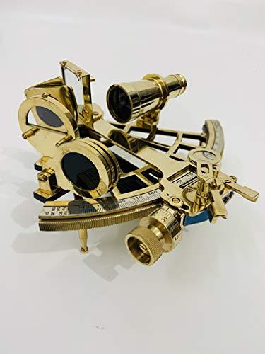 Malla Navigationsgerät Messing-Sextant Original | Echter Sextant | Sextant funktional | Vintage Messing Antik Sextant | Geschenk Sextant