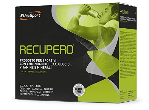 EthicSport - Recupero - Confezione da 20 x 16,5 g - Prodotto per sportivi con Amminoacidi, BCAA, Glucidi, Vitamine e Minerali