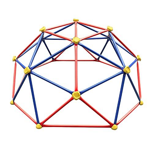 ULTRAPOWER SPORTS Geometric Dome Climber, Outdoor Kinder Klettergestell, Klettergerüst Kletterturm Spielgerüst belastbar bis 270kg, 6FT(1,82m) x3FT(0,9m), Blau-Rot
