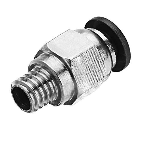 KEKEYANG 4.3mm 10 unids agujero neumático conectores PC4-M6 ajuste 4mm PTFE tubo conector acoplamiento alimentación entrada para TEVO 3D impresora herramientas