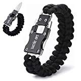Tactic Ops Paracord Knife Bracelet Survival Knife Bracelet Cord Bracelets Multitool Hiking Gear Tactical EDC Bracelet Camping Paracord Bracelet for Men Gift