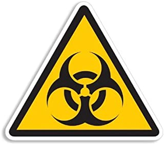 American Vinyl Triangle Biohazard Logo Caution Sign Sticker (Symbol Zombie Gamer)