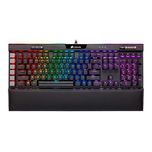 Corsair K95 RGB Platinum XT Mechanical Gaming Keyboard, Backlit RGB LED, CHERRY MX SPEED RGB Silver, Black