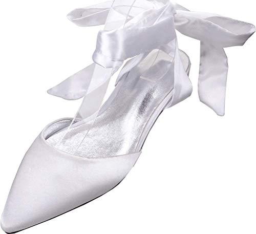 Zapatos planos de ballet de las señoras del dedo del pie puntiagudo...