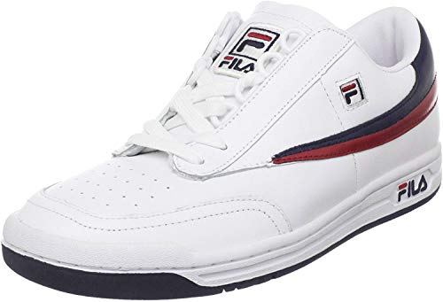 Fila Men's Original Tennis Fashion Sneaker, White Navy Red, 11 M US