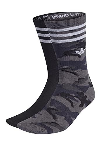 adidas Camo Crew Sock Socks, Unisex-Adult, Grey Six/Black, L