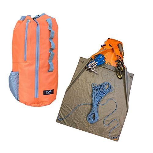 Rock Climbing Rope Bag I Rock Climbing Gear for Rock Climbing Rope I Rope Bag Rock Climbing Limited Large Climbing Bag Size I Chalk Bag with Full Sized Tarp I Rope Bag