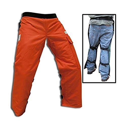Forester Chainsaw Safety Chaps with Pocket, Apron Style (Short 35', Orange)