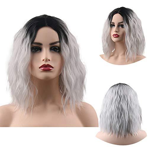 LYDSQ PerüCke EuropäIsches Und Amerikanisches Feuerwerk HeißEs Kurzes Lockiges Haar PerüCke Weibliches Hochtemperatur-SeidengefäRbtes Haar-Set