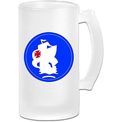 Cristalería del sur del ejército de los Estados Unidos para bares Impreso 16.9 Oz Copa de cerveza de vidrio esmerilado Vaso con asas Bebidas Vaso de jugo