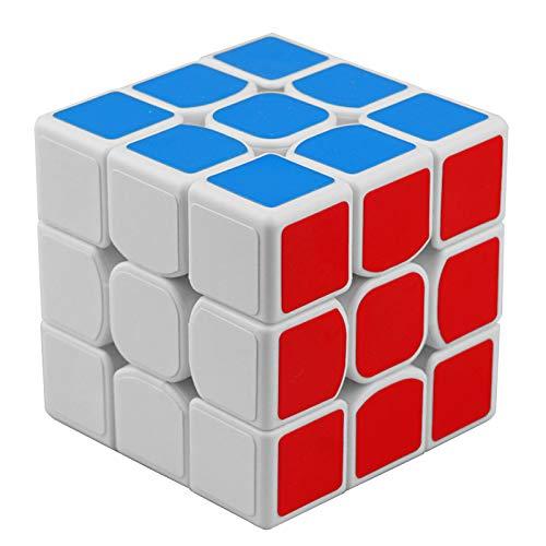 スピードキューブ WEWINK PLUS 3X3X3 競技専用 ルービックキューブ 回転スムーズ 世界基準配色 立体パズル 子供用 おもちゃ ストレス解消に マジックキューブ (ホワイト ステッカー)