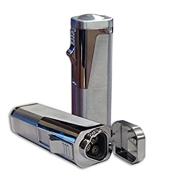 Prestige Import Group Typhoon Triple Flame Torch Lighter with Punch Cutter - Color  Silver