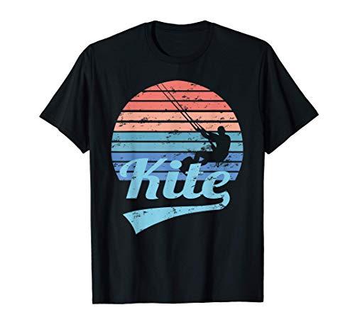COMETA Kitesurf Kite Surf Navegar Retro Antiguo Camiseta