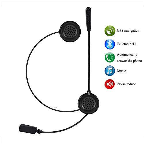E1 Auricular Bluetooth para Casco de Motocicleta, Intercomunicador con Auricular Bluetooth 4.1, Calidad de Sonido HD, conecte 2 teléfonos móviles (1 Paquete)