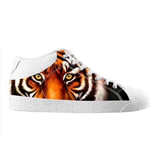 Cheese Noël Heureux Tigre haute qualit ¨ ¤ chaussures Canvas Custom Chukka pour les Homme, EUR 44