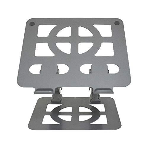 Monitorstandaard voor laptops en tablets van 18 inch en hoger, zwart zilver, metaal 1-4 ZILVER
