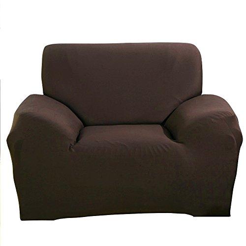 Paramount City – Copri poltrona/divano in tessuto elastico, Coffee, 1 seater:90-140cm