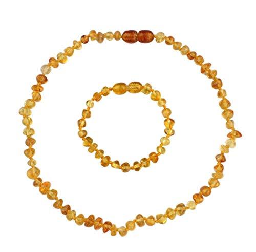Fireflys Pulseras De Ámbar Natural Tobilleras Collares Irregular Báltico Ambers Beads Hecho A Mano para Niños Joyería