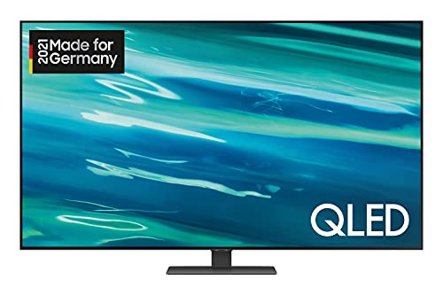 Samsung QLED 4K TV Q80A 55 Zoll (GQ55Q80AATXZG), Quantum HDR 1500, Direct Full Array, Game Pro Mode [2021],Nachtschwarz