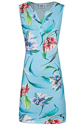 La plus belle Damen Nachthemd mit Knopfleiste caribic 44 0281013, caribic, 44