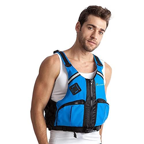 Schwimmweste Für Erwachsene Anti-Kollisions-Auftriebshilfe Tragbare Outdoor-Bootsfischerei Für Erwachsene Professionelle Auftriebsweste Für Männer,Blau,L