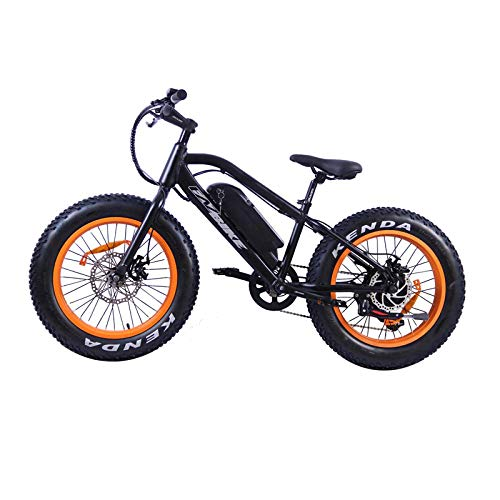 cuzona Mountain Bike Elettrico Fat Tire Bicicletta elettrica Beach Cruiser Booster Bike 500W E-Bike 36V 10 4AH Batteria al Litio-Nero