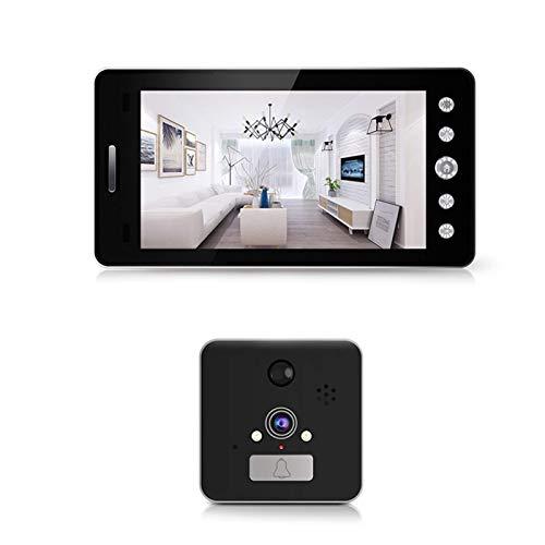 SXXYTCWL Wi-Fi Wireless Puerta Bell de 5 Pulgadas Mirilla con visión Nocturna for el hogar Timbre Timbre de la Puerta de Ministerio del Interior jianyou