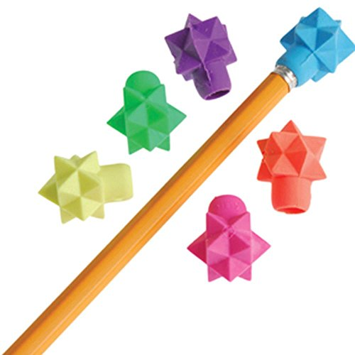 US Toy Assorted Color 3D Star Design Pencil Toppers (Lot of 48)