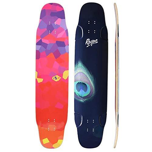Rayne Longboards Whip 41' Bamboo Fiberglass Dancer Freestyle Longboard Deck
