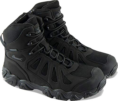 """Thorogood 834-6295 Men's Crosstrex Series - 6"""" BBP Waterproof, Side Zip Hiker Boot, Black - 9.5 M US"""
