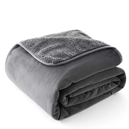 Chee Ray 100% Waterproof Dog Blanket 38 x 29 in, Soft Pet Pee Proof Throws for Couch Sofa Bed, Reversible Plush Protector Cover for Small Dogs Puppies Cats, Grey