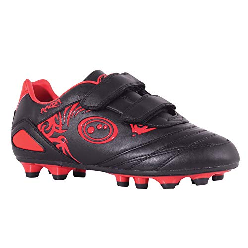 Optimum Jungen Razor Fußballschuhe, Rot (Black/red), 33 EU