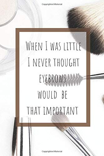 When I Was Little I Never Though Eyebrows Would Be That Important: Makeup Organizer Notebook Bullet Journal Diary ( Make Up Junkies Must-Have )( 110 ... 6 x 9 ) (Beauty Quotes Notebooks, Band 10)