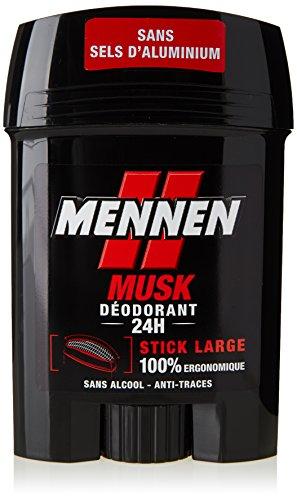 Mennen Déodorant 24 h anti-traces Musk - Le stick de 50 ml