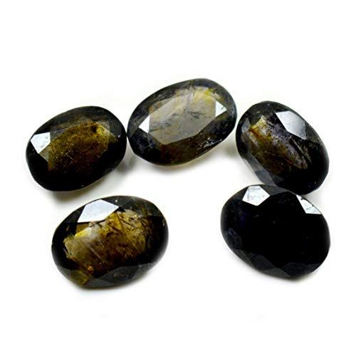 Gemsyogi Piedra de Iolita Natural Total 10 Quilates 5 Piezas Piedra Preciosa Suelta Lote Forma Oval Piedra Natal a Precio mayorista
