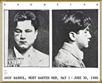 ポスター アンディ ウォーホル Most Wanted Men No. 2 John Victor G 額装品 アルミ製ハイグレードフレーム(ゴールド)