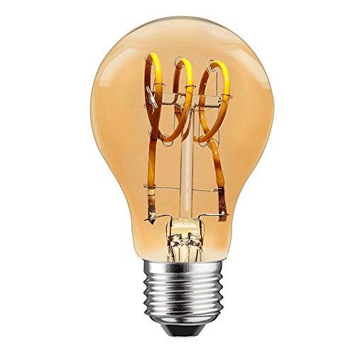 LED spiraal filament 5W = 25W E27 helder goud bekleed extra warm wit 2200 K dimbaar
