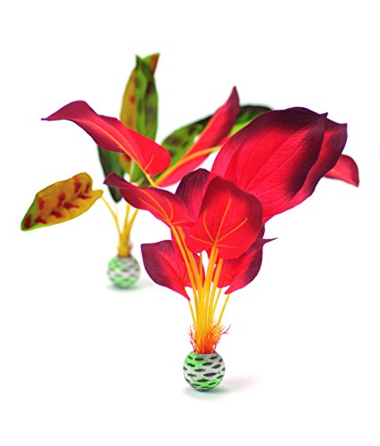 biOrb Silk Plant Set Large Green & red