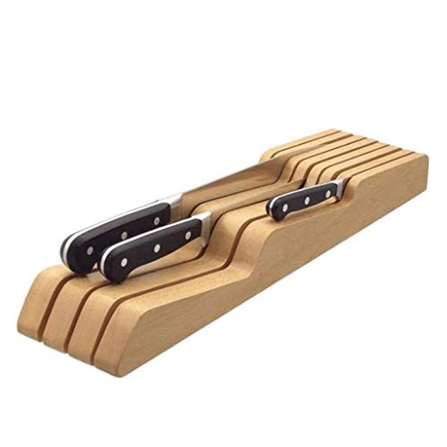 SCDGYG Cuchillos en cajón Bloque del Cuchillo, sostenedor vacío Cuchillo de Madera for cajones de Madera-Cocina for Guardar Bloque