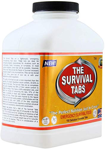 Survival Tabs 15 Day 180 Tabs Emergency Food Survival Food Meal Replacement MREs Gluten Free and Non-GMO 25 Years Shelf… 5