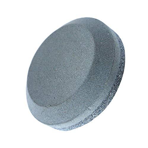 Gouen 1Pc multifunctioneel huishoudmes wetsteen ronde dubbelzijdige slijpsteen hand dual grit tool voor keukenaccessoires tool, grijs