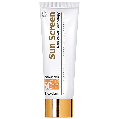 Frezyderm SunScreen Velvet Crema protectora solar corporal SPF 50+ (textura aterciopelada, previene el fotoenvejecimiento), 125ml