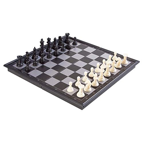 Kapokilly Magnetisches Reise-Schachspiel, Schachspiel - Faltbares Handgefertigtes Holzschachspiel - Tragbare Reise-Schach-Brettspiel-Sets - Schachbrett-Set - Schachspielzeug Für Kinder, S/M/L