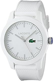 Lacoste, 201076212.12 reloj de pulsera color blanco, con banda texturizada, para hombre