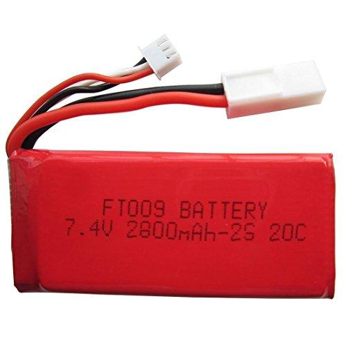 YUNIQUE ESPAGNE® 1 Pieca Bateria Li-ion 7,4V 2800mAH , para FT009 barco del rc repuestos