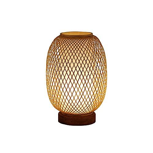 TTWUJIN Mesa de Centro Muebles de Escritorio Amter Lámpara de Mesita de Noche Japonesa, Lámpara de Mesa de Dormitorio de Estudio de Estilo Rústico Lámpara de Mesa Lámpara de Mesa Sala de Estar, Dormi